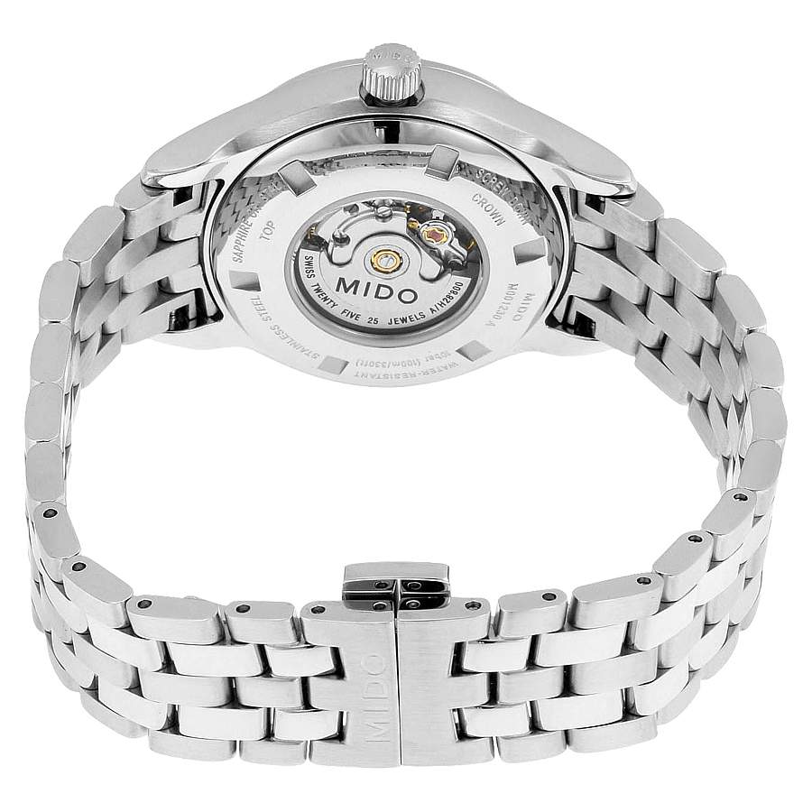 mido-belluna-automatic-silver-dial-stainless-steel-ladies-watch-replica