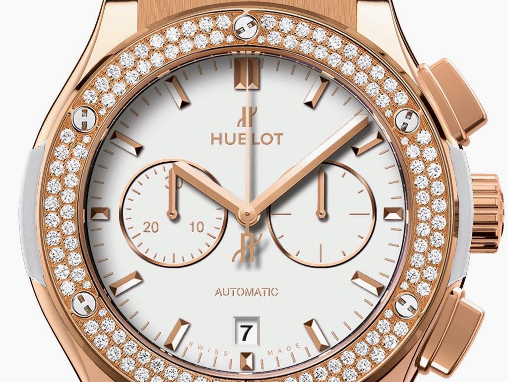 Hublot-Classic-Fusion-White-Chrono-king-gold-dial