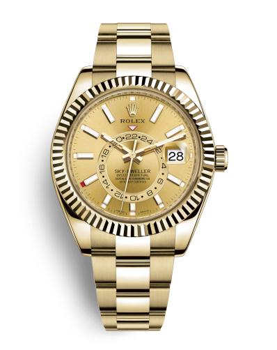 The wonderful watches replicaRolex Sky-Dweller 326938 are worth for men.