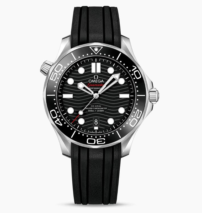 The 42 mm replica Omega Seamaster 300M 210.32.42.20.01.001 watches have black dials.