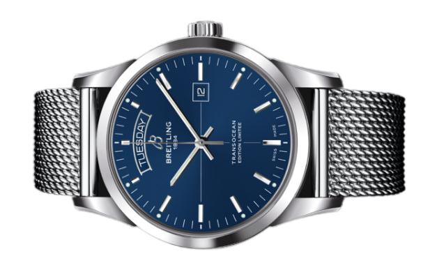 The durable copy Breitling Transocean A453109T watches are made from stainless steel.