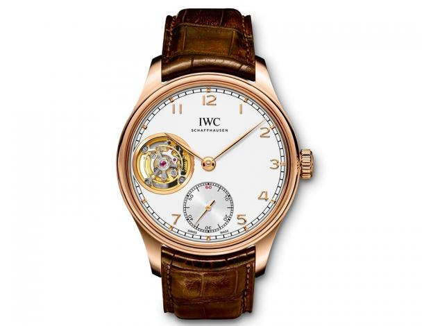 The luxury fake IWC Portugieser IW546302 watches are made from 18k red gold.