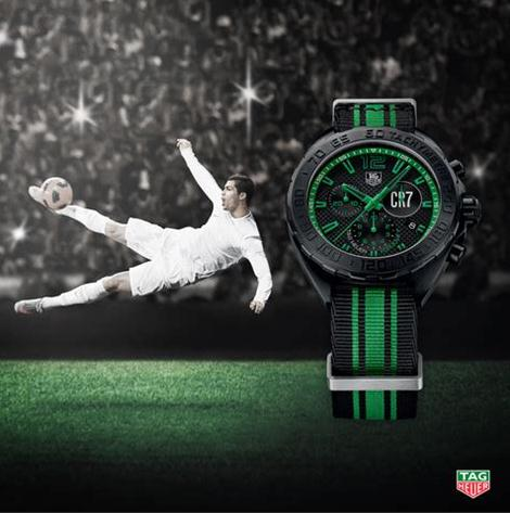The unique fake TAG Heuer Formula 1 CR7 CAZ1113.FC8189 to pay a tribute to Cristiano Ronaldo who has got FIFA Ballon d'Or award for three times.