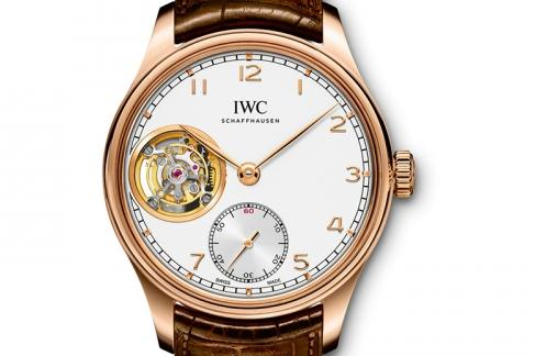 The elegant copy IWC Portugieser IW546302 watches have white dials.