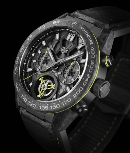 The skeleton dials copy watches have tourbillons.