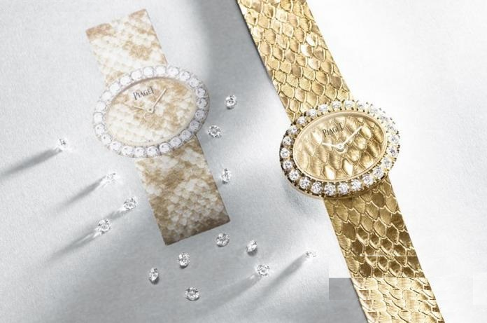The oval fake watches are made from 18k gold.