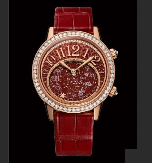 The 18k rose gold fake watches are decorated with diamonds.