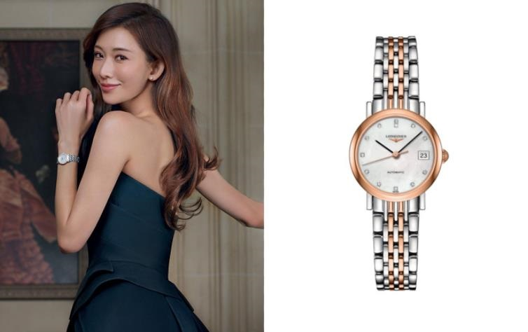The elegant replica watch is made from stainless steel and 18k red gold.