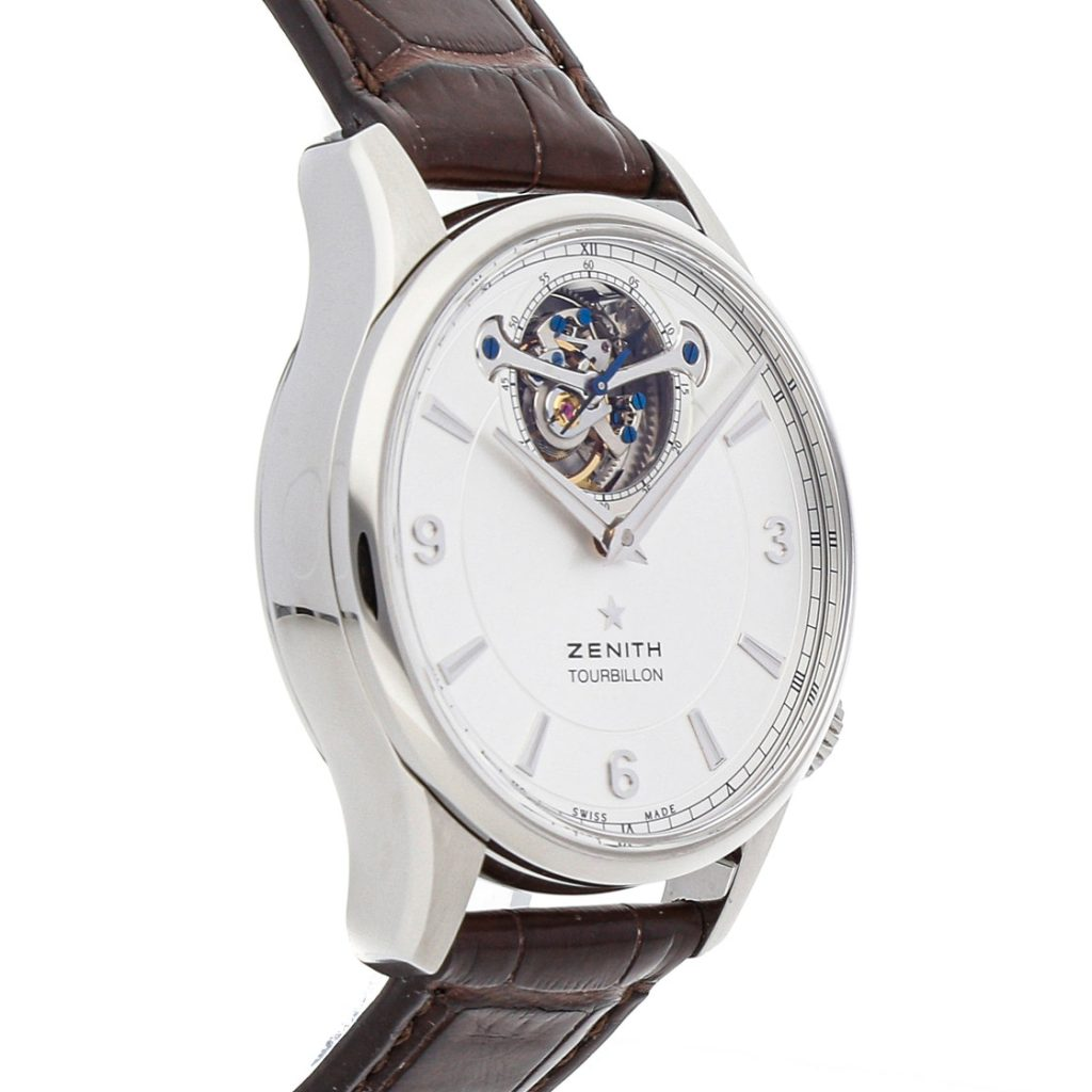 The silvery dials fake watches have tourbillons.