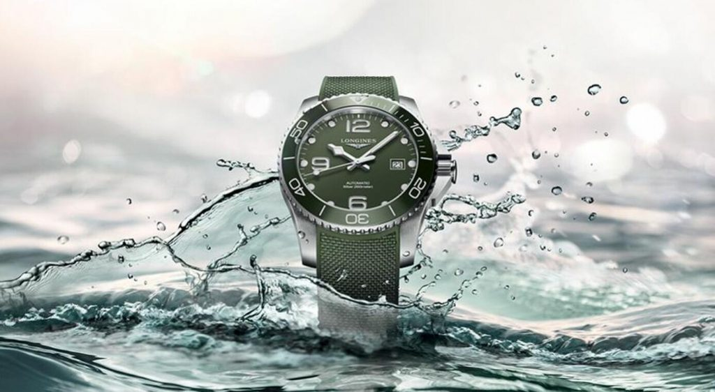 The water resistant fake watches have green straps.